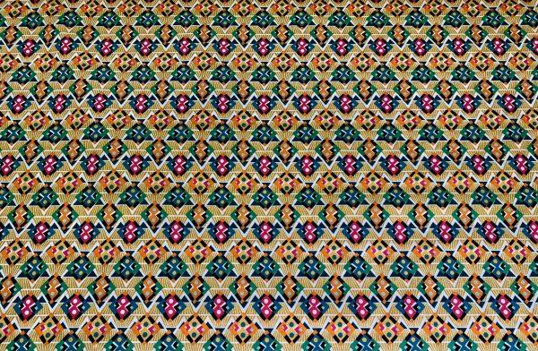 Motif tissu coton formes géométriques orange