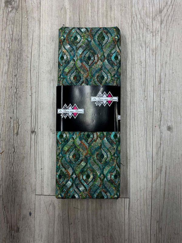Tissu coton vert motif abstrait