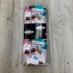 Tissu coton cartes postales gris