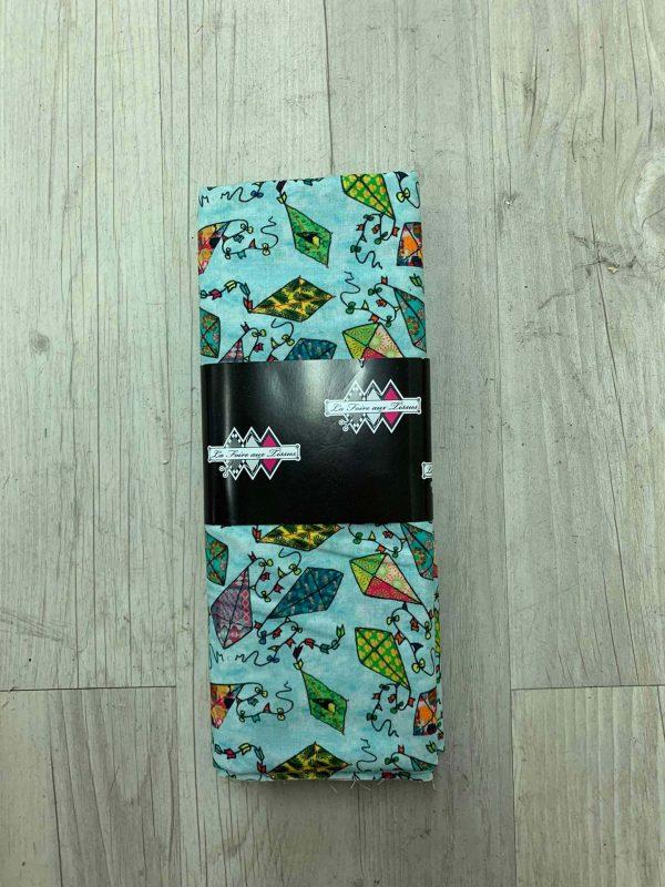 Tissu coton motif cerf-volants