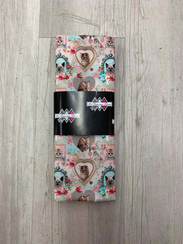 Tissu coton motif chats
