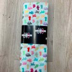 Tissu coton motif chats multicolore