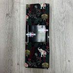 Tissu coton éléphants noir