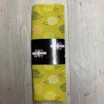 Tissu coton hérissons jaune