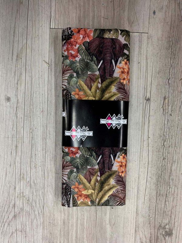 Tissu coton motif jungle