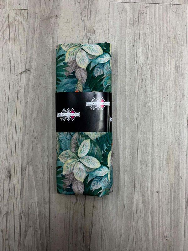 Tissu coton motif perroquet et arbre