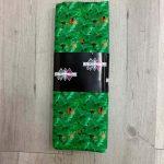 Tissu coton vert motif trèfle et coccinelle