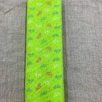 Tissu coton vert motif vélo