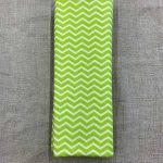 Tissu coton vert motif zigzag